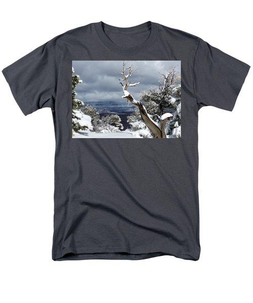 Snowy View Men's T-Shirt  (Regular Fit) by Laurel Powell