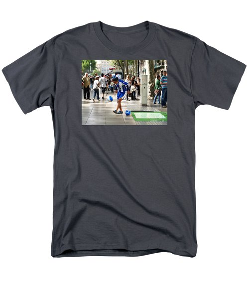 Men's T-Shirt  (Regular Fit) featuring the photograph Soccer Performance by Haleh Mahbod