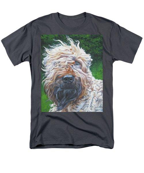 Soft Coated Wheaten Terrier Men's T-Shirt  (Regular Fit) by Lee Ann Shepard