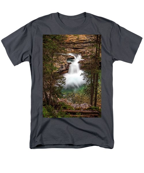 Men's T-Shirt  (Regular Fit) featuring the photograph Soft Smooth Waterfall by Darcy Michaelchuk