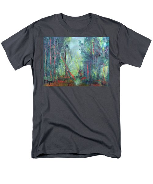 Men's T-Shirt  (Regular Fit) featuring the painting Softlit Forest by Betty Pieper