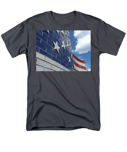 Solid Old Glory  Men's T-Shirt  (Regular Fit) by Erick Schmidt