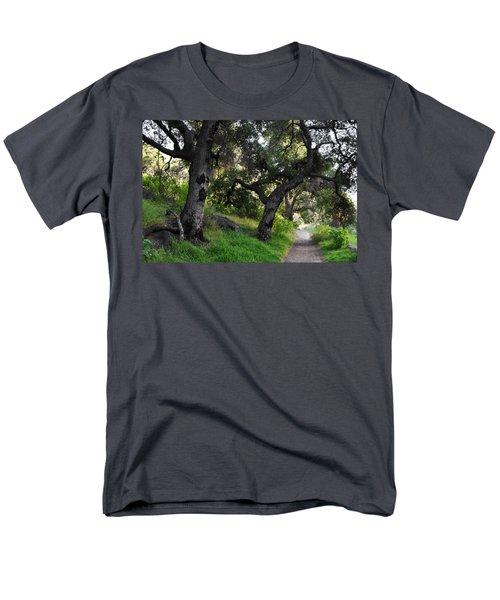 Solstice Canyon Live Oak Trail Men's T-Shirt  (Regular Fit) by Kyle Hanson