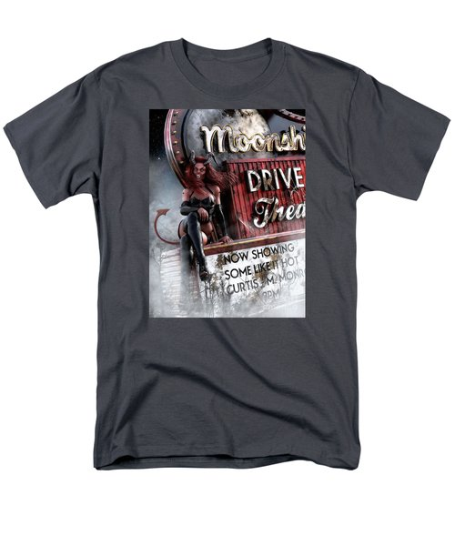 Men's T-Shirt  (Regular Fit) featuring the digital art Some Like It Hot by Shanina Conway