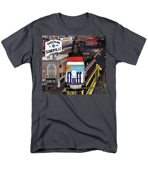 Men's T-Shirt  (Regular Fit) featuring the drawing A Strange Day In Somerville  by Richie Montgomery