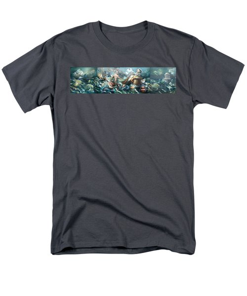 Something Fowl Afloat 2b Men's T-Shirt  (Regular Fit) by Patrick Anthony Pierson