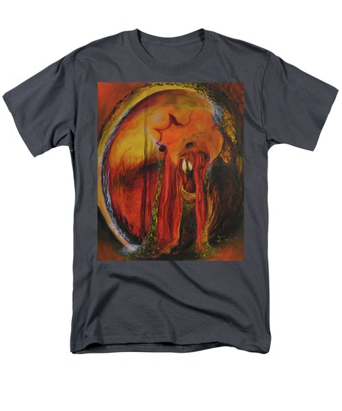 Men's T-Shirt  (Regular Fit) featuring the painting Sorcerer's Gate by Christophe Ennis