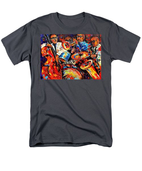 Sounds Of Jazz Men's T-Shirt  (Regular Fit) by Helen Kagan