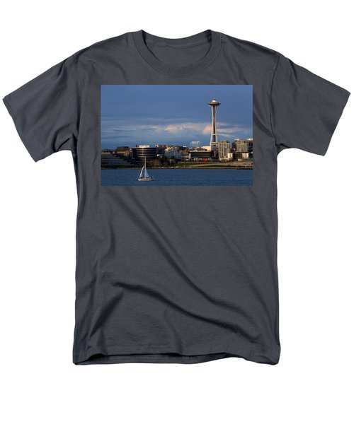 Men's T-Shirt  (Regular Fit) featuring the photograph Space Needle by Evgeny Vasenev