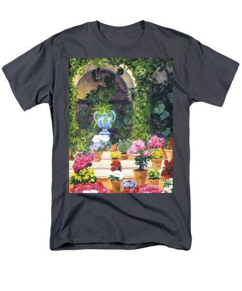 Spanish Courtyard Men's T-Shirt  (Regular Fit) by Lynne Reichhart