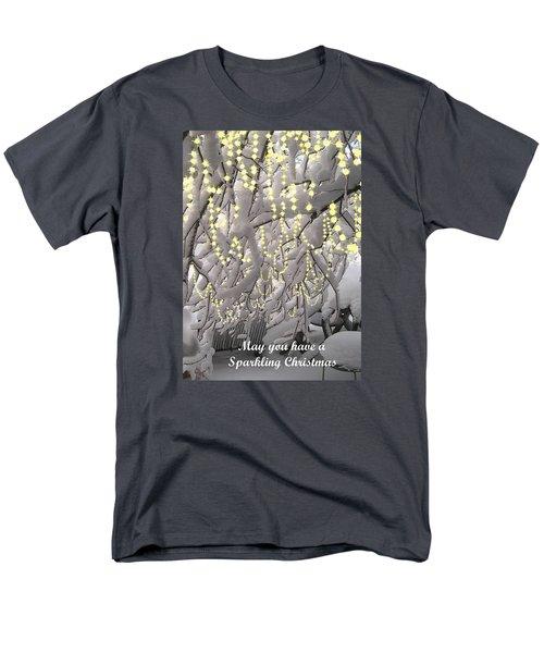 Men's T-Shirt  (Regular Fit) featuring the photograph Sparkling Christmas Card by R  Allen Swezey