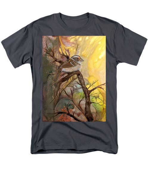 Men's T-Shirt  (Regular Fit) featuring the painting Sparrow by Sherry Shipley