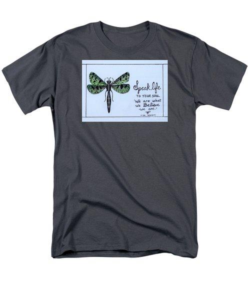 Speak Life To Your Soul Men's T-Shirt  (Regular Fit) by Elizabeth Robinette Tyndall