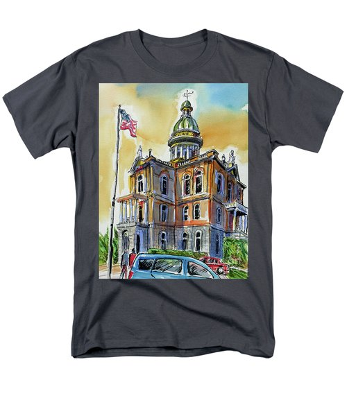 Men's T-Shirt  (Regular Fit) featuring the painting Spectacular Courthouse by Terry Banderas