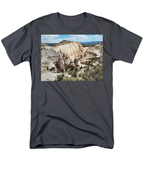 Spectacular Slot Canyon Trail View-at-the-top Men's T-Shirt  (Regular Fit) by Cindy Croal