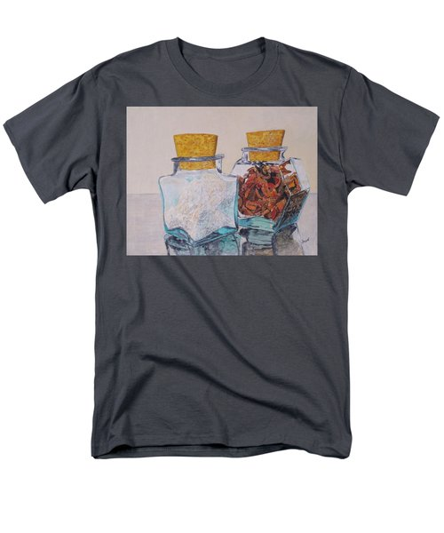 Men's T-Shirt  (Regular Fit) featuring the painting Spice Jars by Hilda and Jose Garrancho