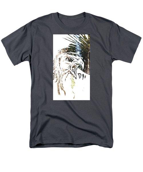 Spirit Animal . Hawk Men's T-Shirt  (Regular Fit) by John Jr Gholson