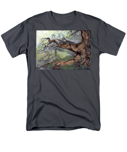 Men's T-Shirt  (Regular Fit) featuring the painting Spirit Tree by Sherry Shipley