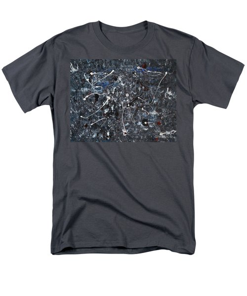 Men's T-Shirt  (Regular Fit) featuring the painting Splattered - Grey by Jacqueline Athmann