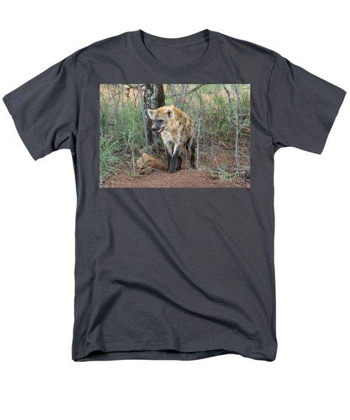 Spotted Hyena Men's T-Shirt  (Regular Fit) by Myrna Bradshaw