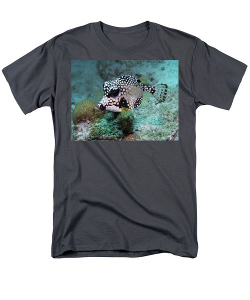 Men's T-Shirt  (Regular Fit) featuring the photograph Spotted Trunkfsh by Jean Noren