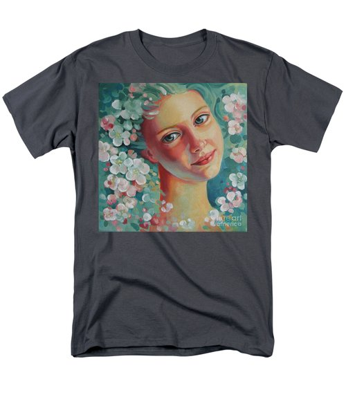 Men's T-Shirt  (Regular Fit) featuring the painting Spring B by Elena Oleniuc