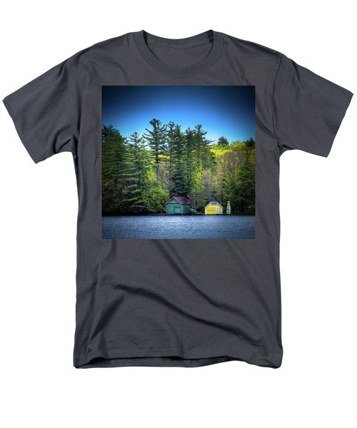 Spring Day At Old Forge Pond Men's T-Shirt  (Regular Fit) by David Patterson