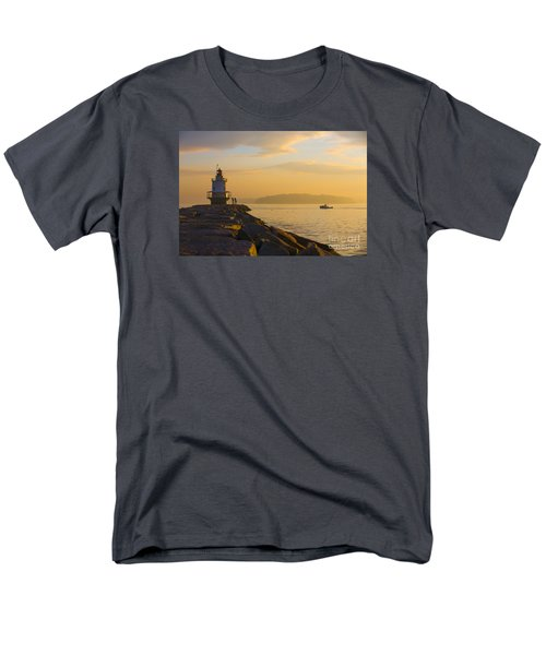 Spring Point Lighthouse At Dawn. Men's T-Shirt  (Regular Fit) by Diane Diederich