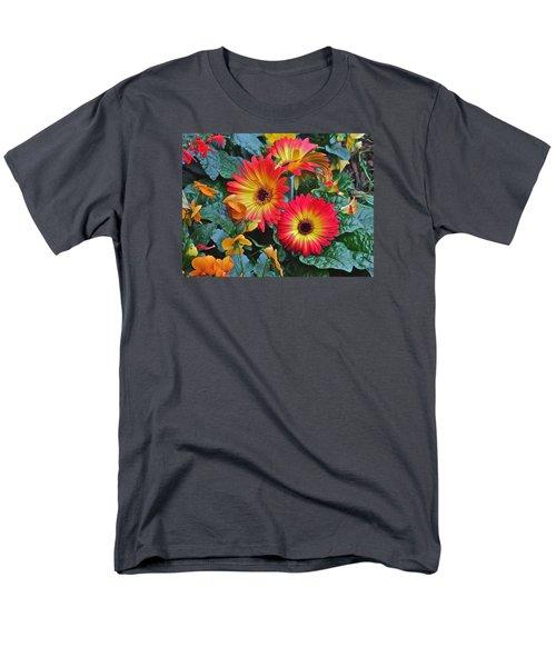Spring Show 14 Gerbera Daisy 1 Men's T-Shirt  (Regular Fit) by Janis Nussbaum Senungetuk