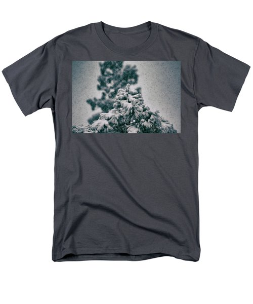 Spring Snowstorm On The Treetops Men's T-Shirt  (Regular Fit) by Jason Coward