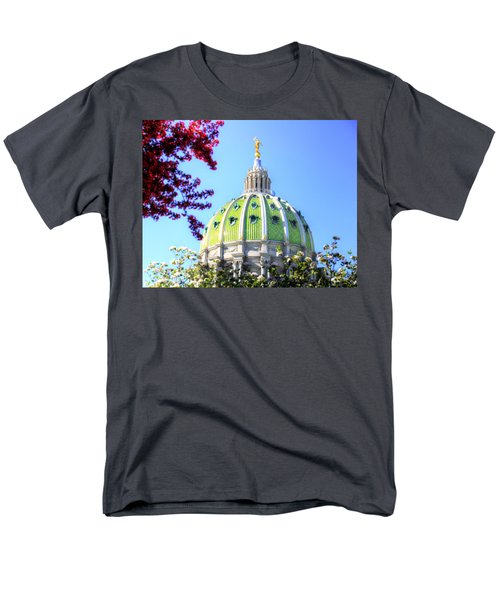 Men's T-Shirt  (Regular Fit) featuring the photograph Spring's Arrival At The Pennsylvania Capitol by Shelley Neff