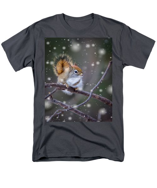 Men's T-Shirt  (Regular Fit) featuring the photograph Squirrel Balancing Act by Patti Deters