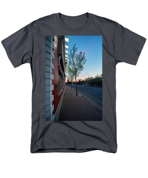 Men's T-Shirt  (Regular Fit) featuring the photograph St. Anne Street At Dusk by Darcy Michaelchuk