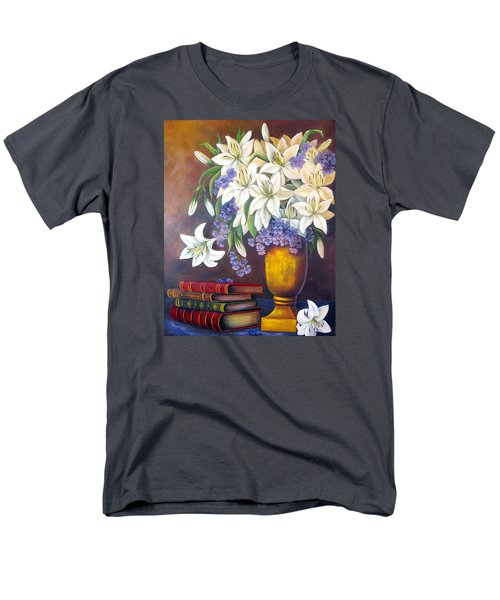 St. Anthony's Lilies Men's T-Shirt  (Regular Fit) by Katia Aho