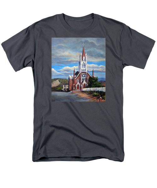 Men's T-Shirt  (Regular Fit) featuring the painting St. Mary Of The Mountains by Donna Tucker