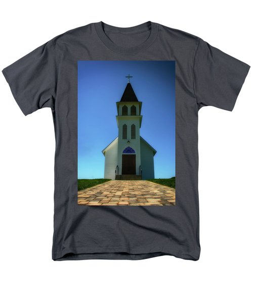 Men's T-Shirt  (Regular Fit) featuring the photograph St. Peter's Church 2 by Joseph Hollingsworth