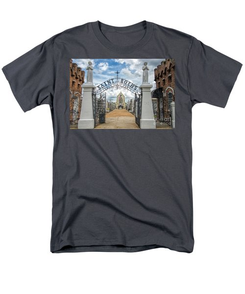 Men's T-Shirt  (Regular Fit) featuring the photograph St. Roch's Cemetery In New Orleans, Louisiana by Bonnie Barry