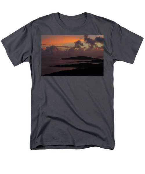 Men's T-Shirt  (Regular Fit) featuring the photograph St Thomas Sunset At The U.s. Virgin Islands by Jetson Nguyen