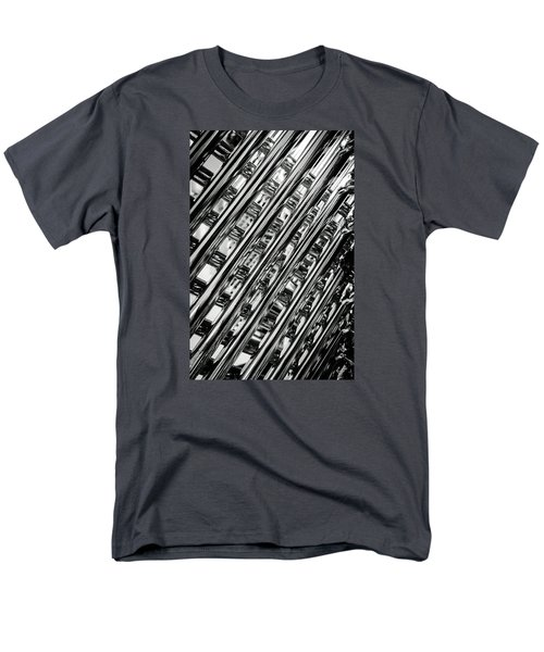 Stacked Chairs Abstract Men's T-Shirt  (Regular Fit) by Bruce Carpenter