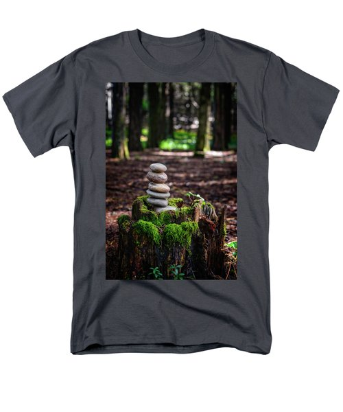 Men's T-Shirt  (Regular Fit) featuring the photograph Stacked Stones And Fairy Tales IIi by Marco Oliveira