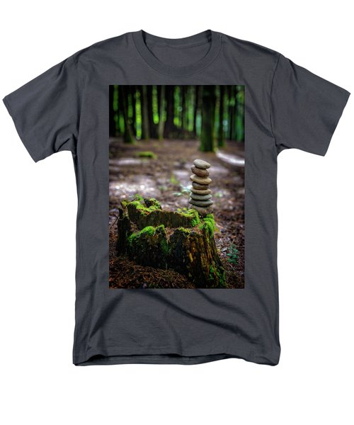 Men's T-Shirt  (Regular Fit) featuring the photograph Stacked Stones And Fairy Tales by Marco Oliveira