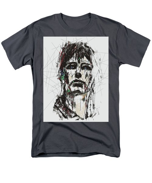 Staggered Abstract Portrait Men's T-Shirt  (Regular Fit) by Galen Valle