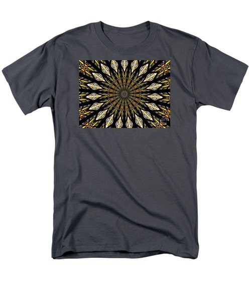 Men's T-Shirt  (Regular Fit) featuring the photograph Stained Glass Kaleidoscope 5 by Rose Santuci-Sofranko