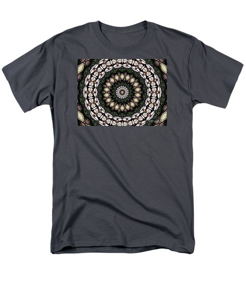 Men's T-Shirt  (Regular Fit) featuring the photograph Stained Glass Kaleidoscope 6 by Rose Santuci-Sofranko