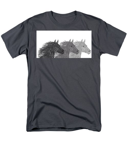 Men's T-Shirt  (Regular Fit) featuring the drawing Stallions Shades by Nick Gustafson
