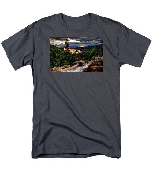 Standing At Eagle Falls Men's T-Shirt  (Regular Fit) by Renee Sullivan