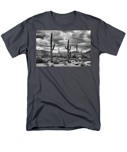 Standing Saquaros Men's T-Shirt  (Regular Fit) by Monte Stevens