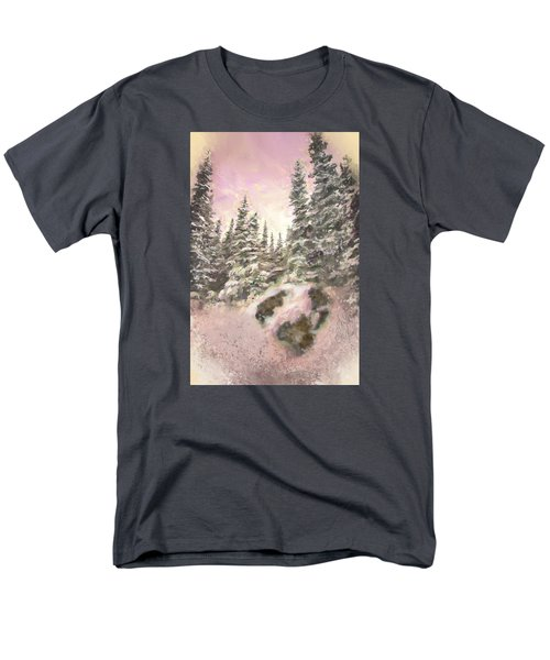 Men's T-Shirt  (Regular Fit) featuring the painting Standing Tall by Annette Berglund