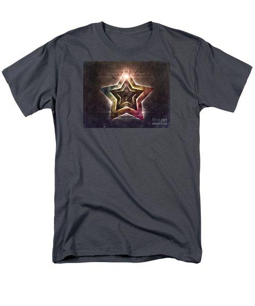 Men's T-Shirt  (Regular Fit) featuring the digital art Star Lights by Phil Perkins