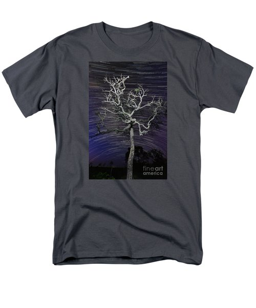 Men's T-Shirt  (Regular Fit) featuring the photograph Star Trails In The Cerrado by Gabor Pozsgai